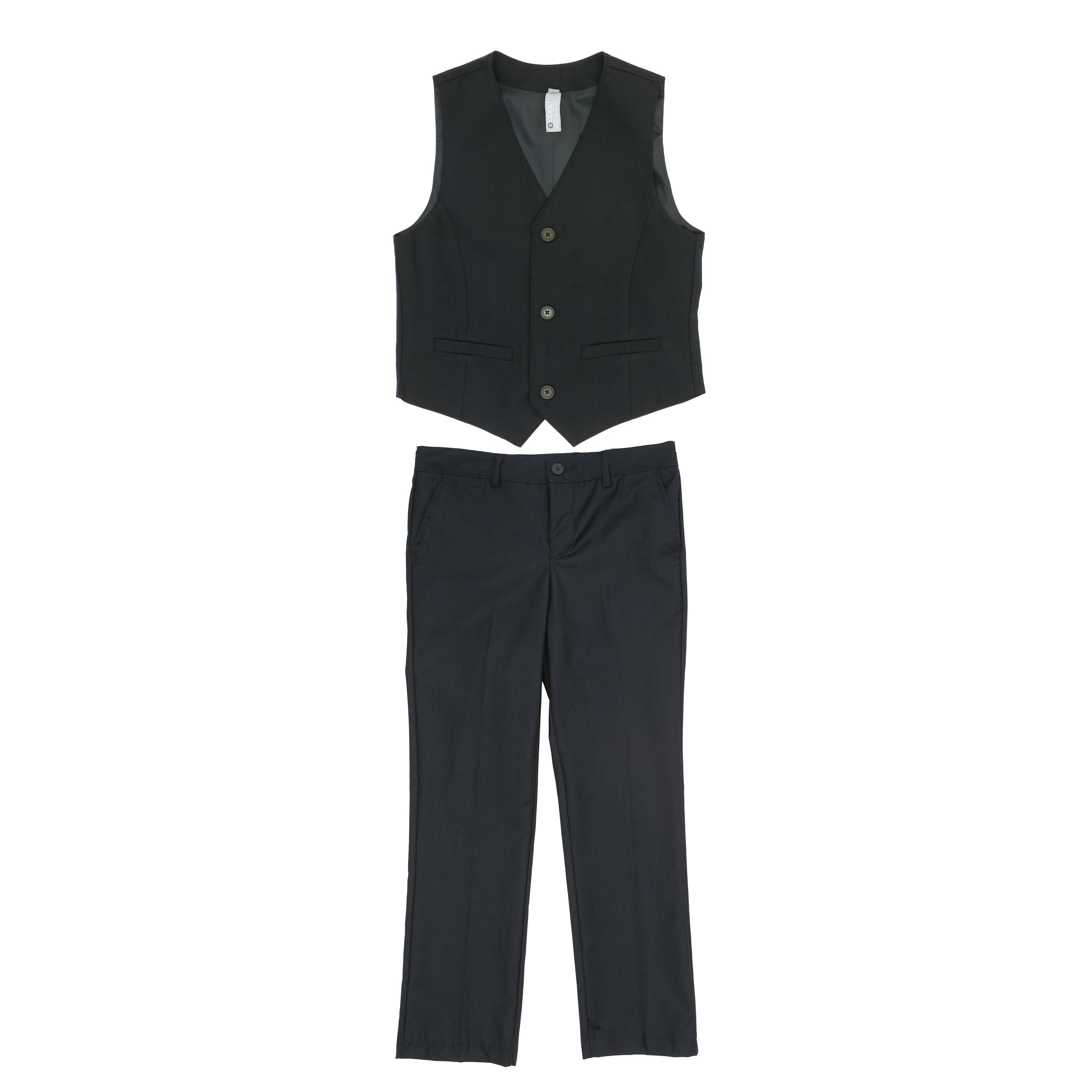 Комплект: брюки, жилет  (темно-серый) 363026
