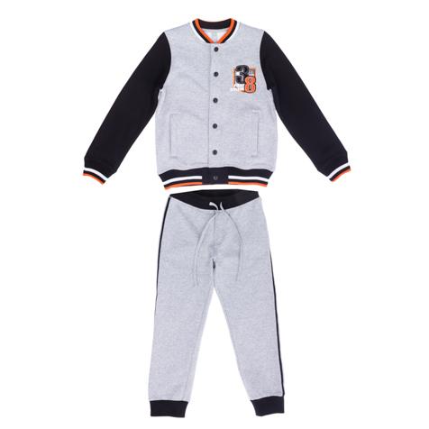 Комплект: толстовка, брюки  серый 363049