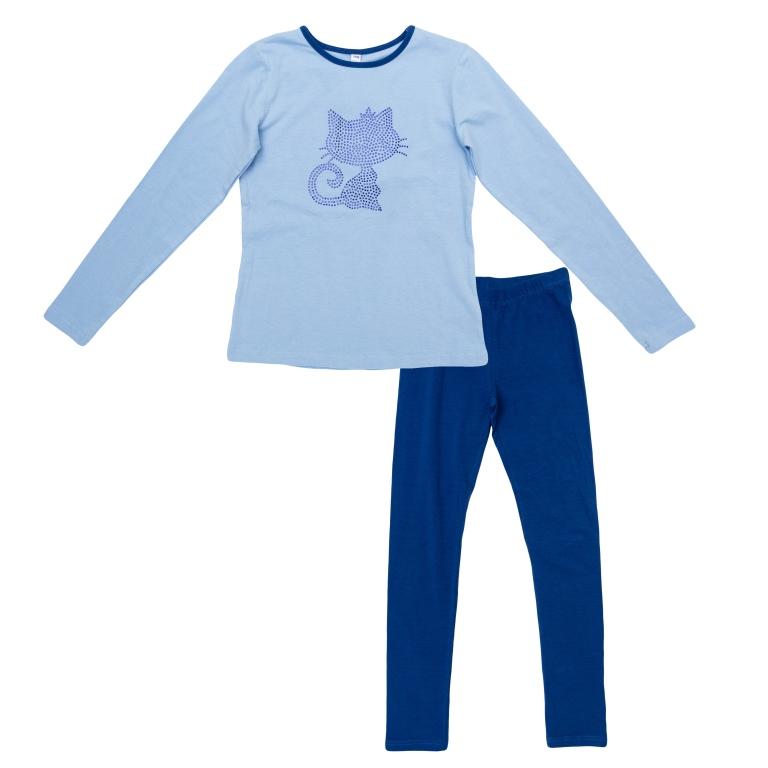 Комплект:футболка с длинным рукавом, брюки 364198