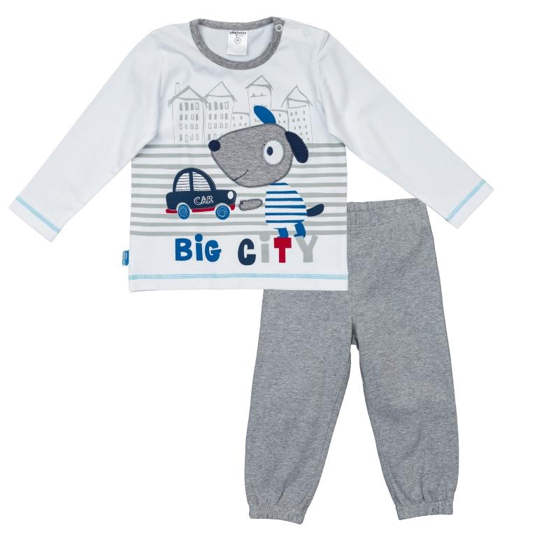 Комплект: футболка с длинным рукавом, брюки 367072
