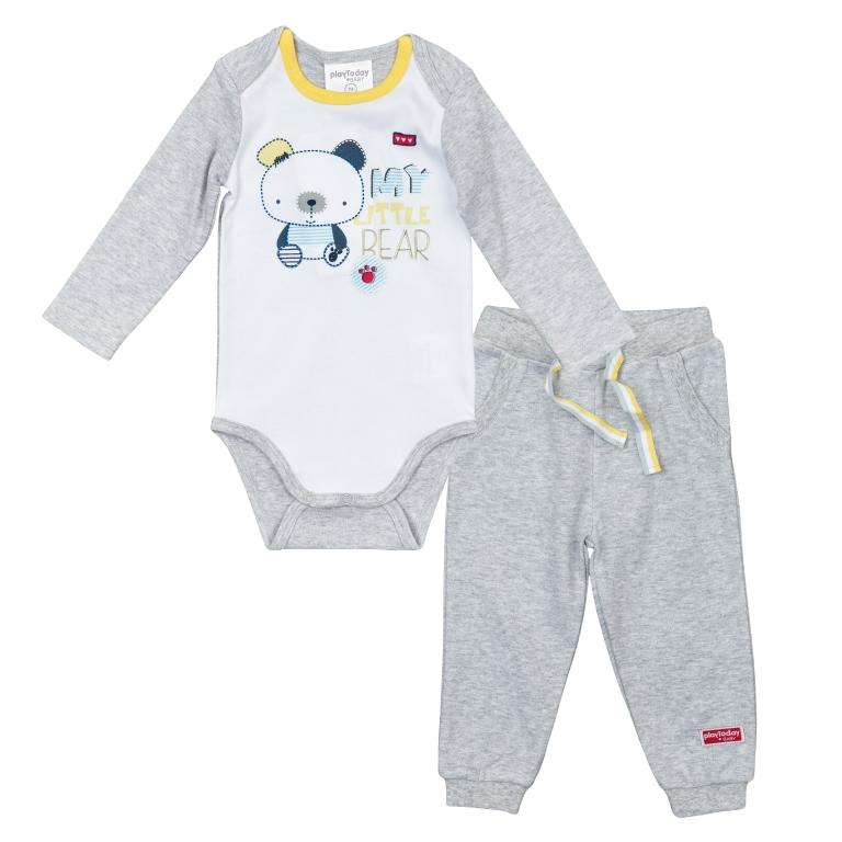 Комплект детский трикотажный для мальчиков: боди, брюки 367809
