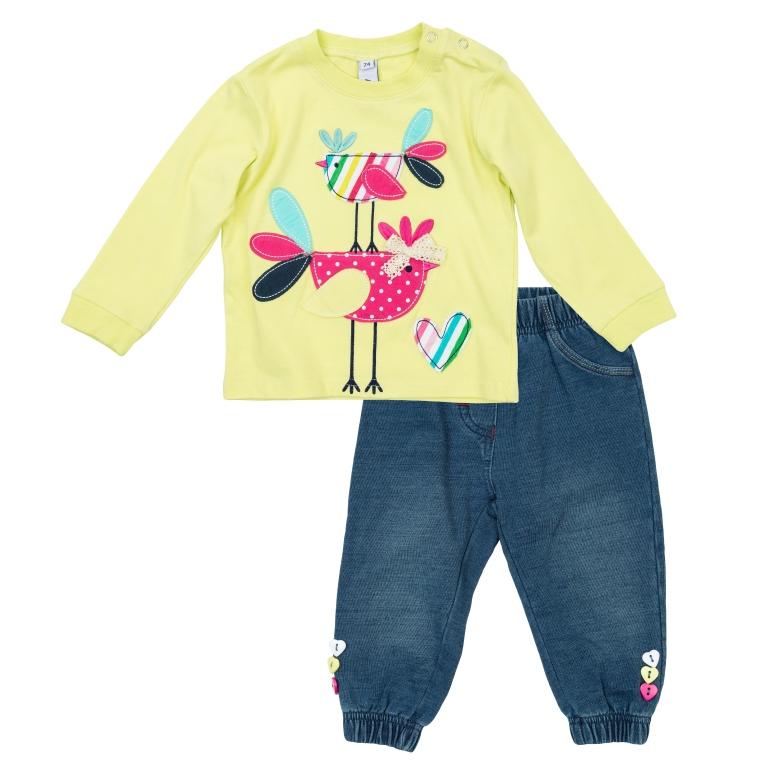 Комплект: футболка с длинными рукавами, брюки 368814