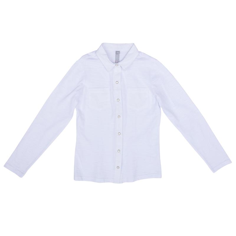 36d1cda2721 374490 2013 Белая блузка для девочки S COOL - купить на odevaika.ru