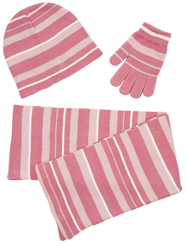 Комплект: шапка, шарф, перчатки для дев. 39230