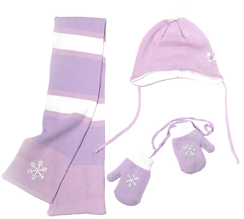 Комплект: шапка, шарф, варежки 39821
