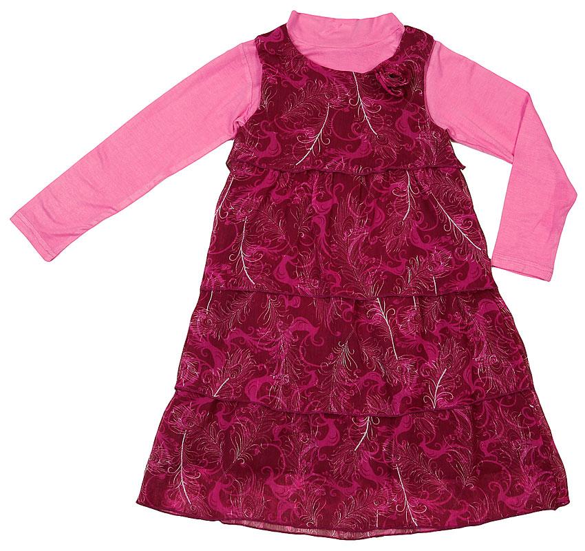 Комплект : платье, водолазка для дев. 402010