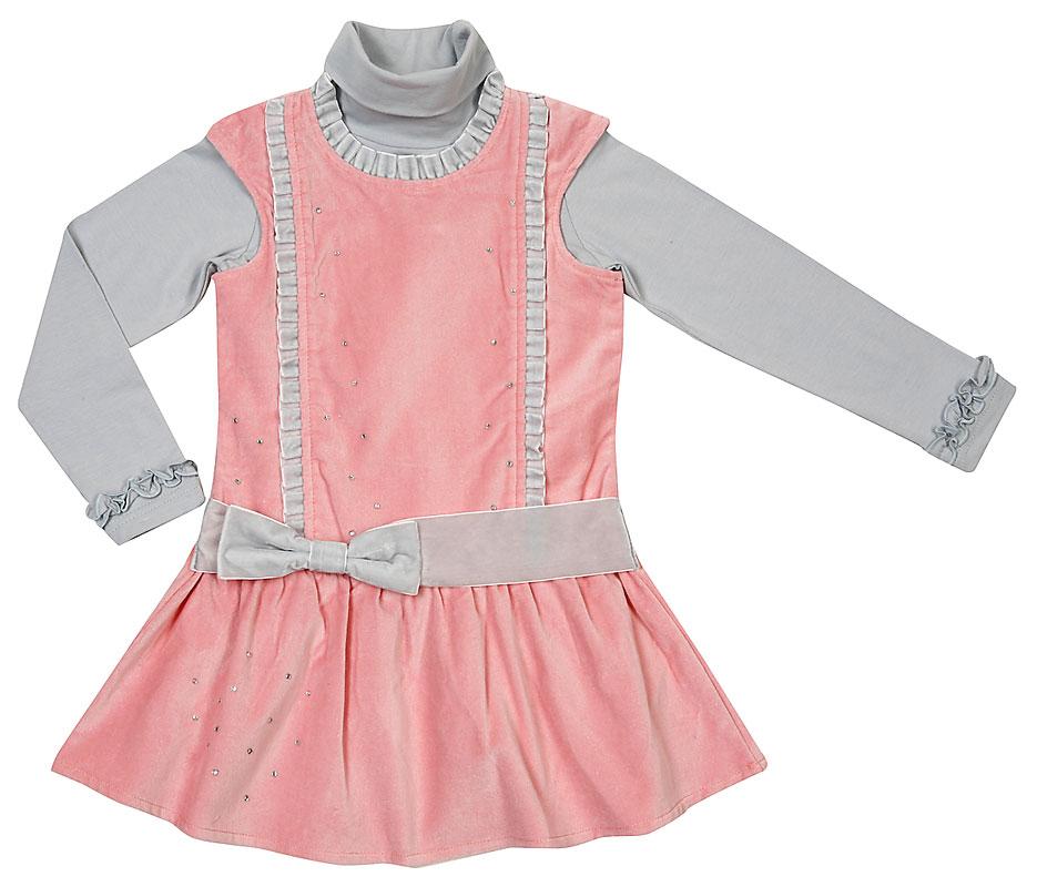 Комплект : платье, водолазка для дев.402022 402022