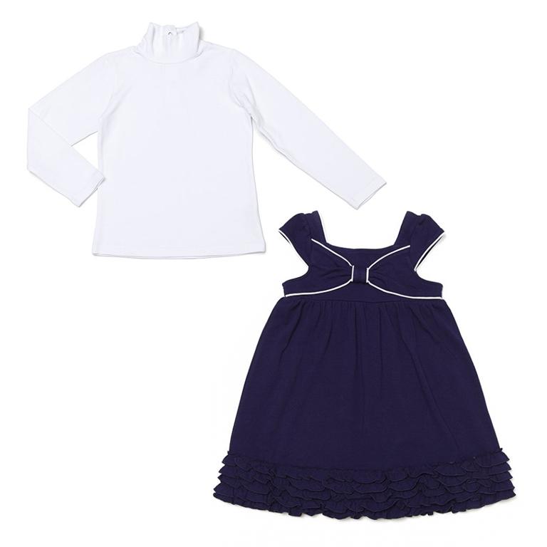 Комплект: водолазка, платье 432035