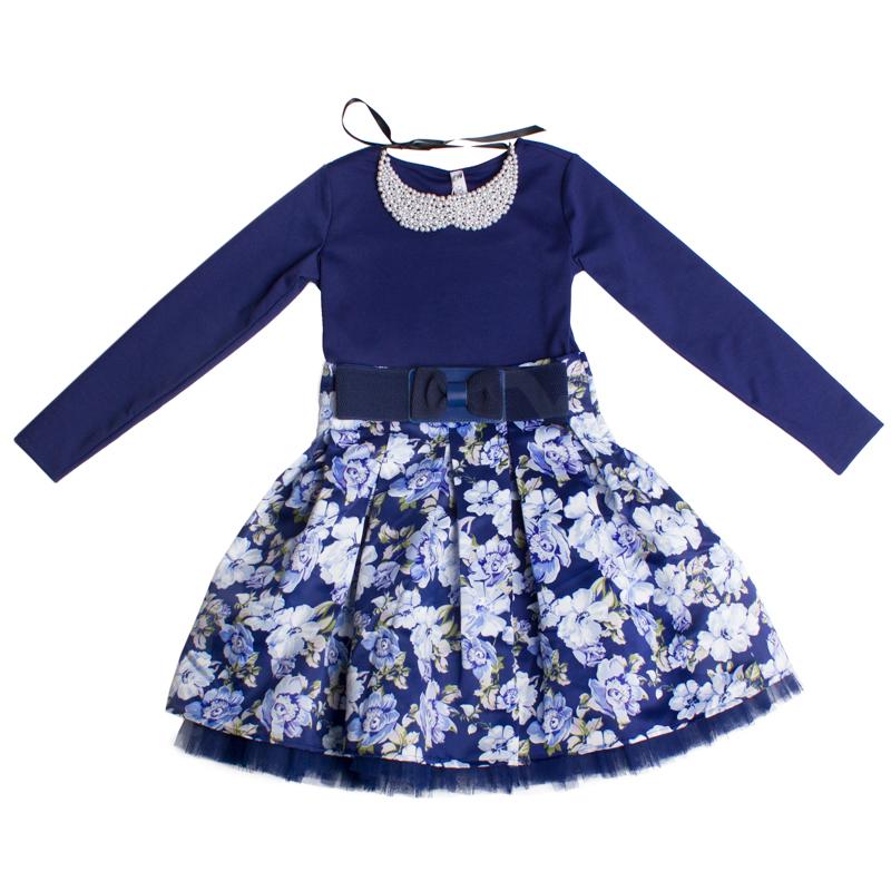 Платье текстильное для девочек 454002