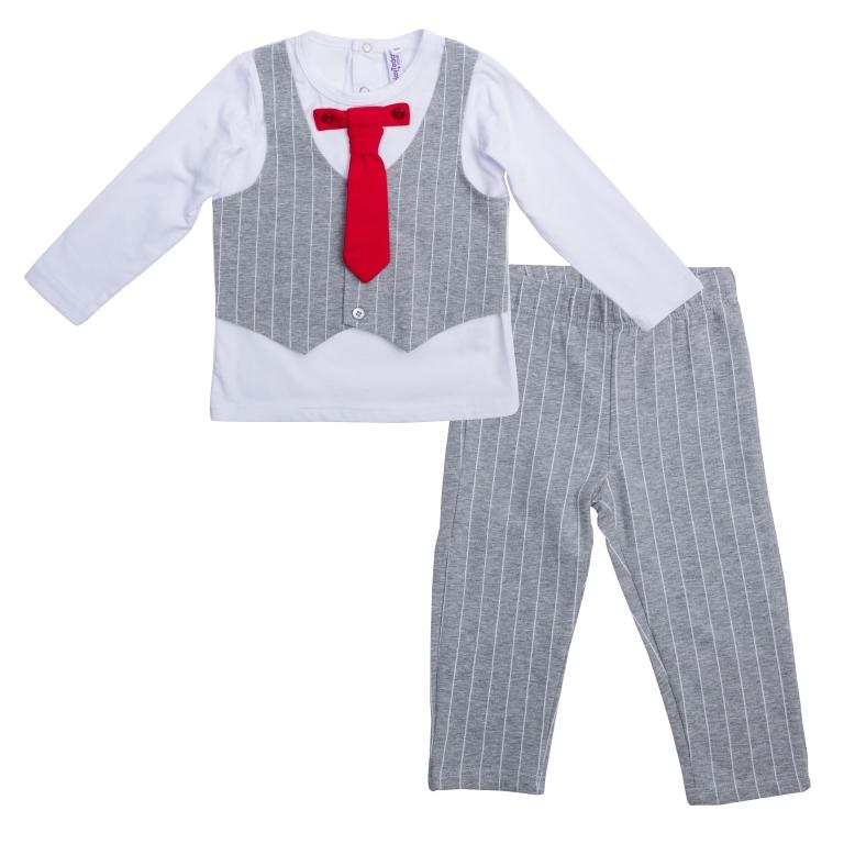 Комплект:футболка с длинным рукавом, брюки 467002