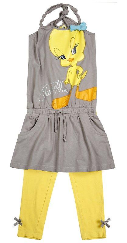 Комплект: платье, леггинсы для дев. 51408