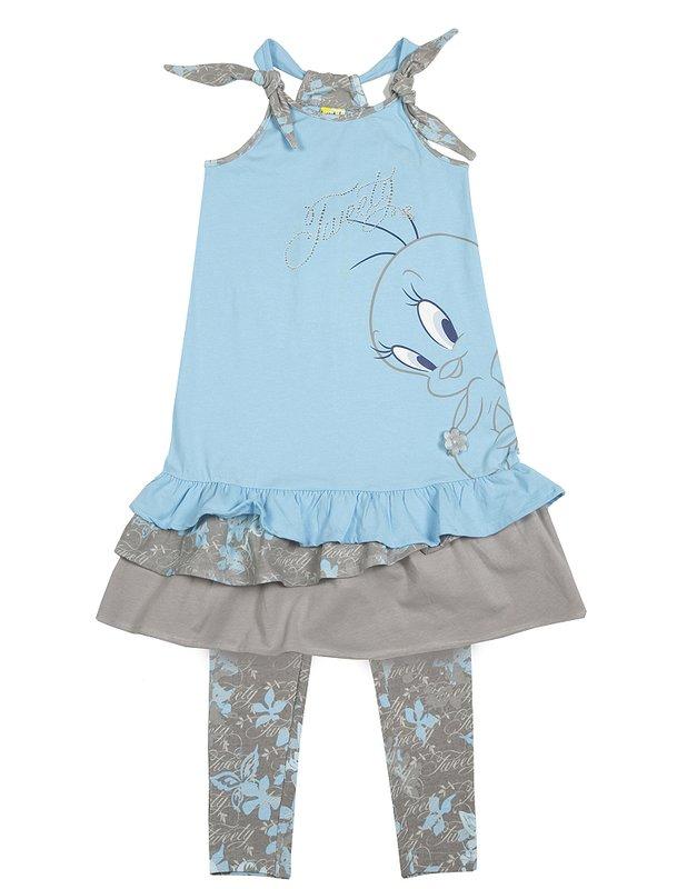 Комплект: платье, леггинсы для дев. 51411