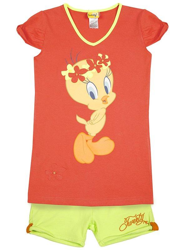 Комплект: футболка, шорты для дев. 51412