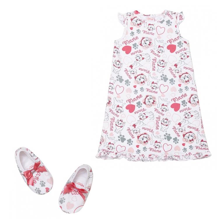 Комплект для девочек: сорочка ночная, тапочки 536002
