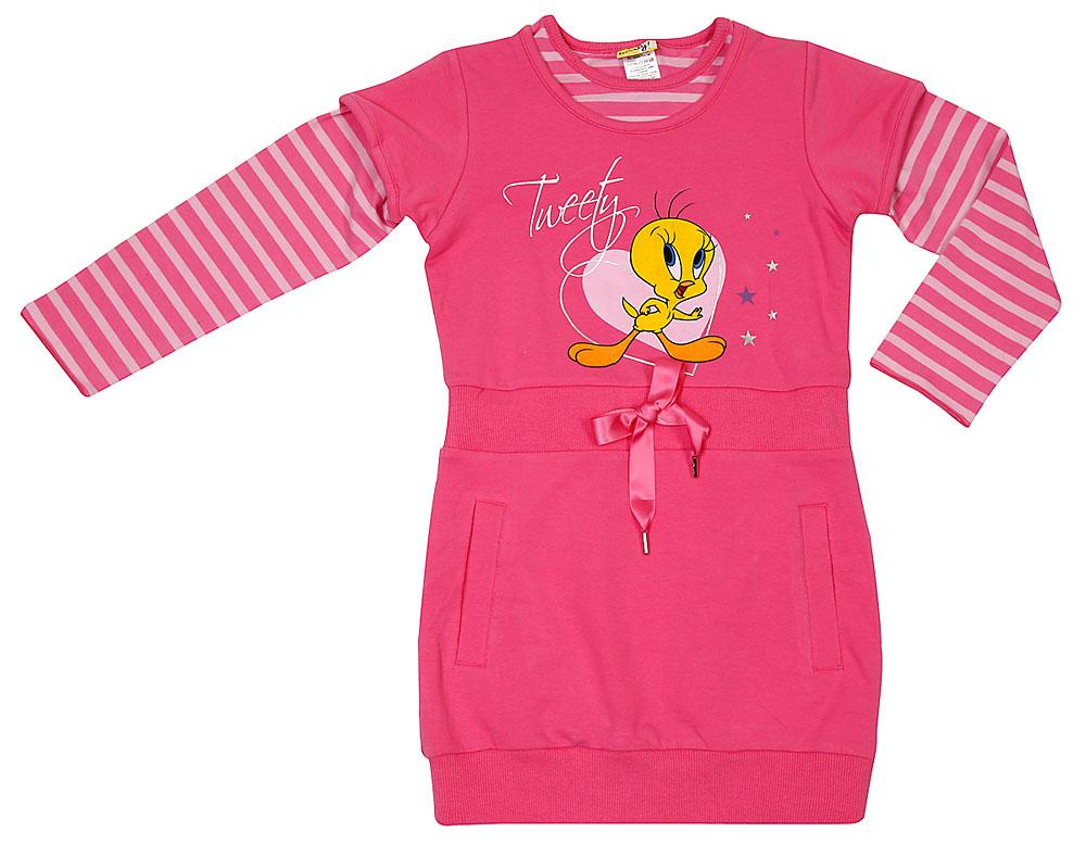 Комплект: платье, футболка для дев.602008 602008