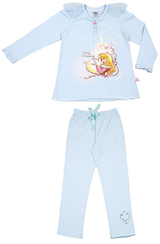 Комплект: футболка, брюки для дев. 606011