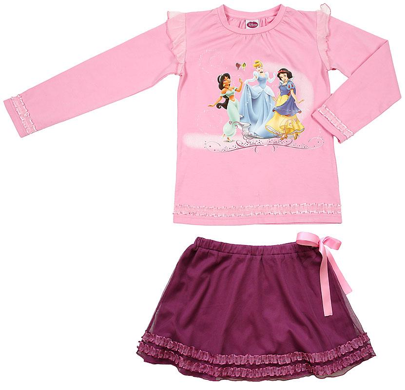 Комплект: футболка, юбка для дев. 606015