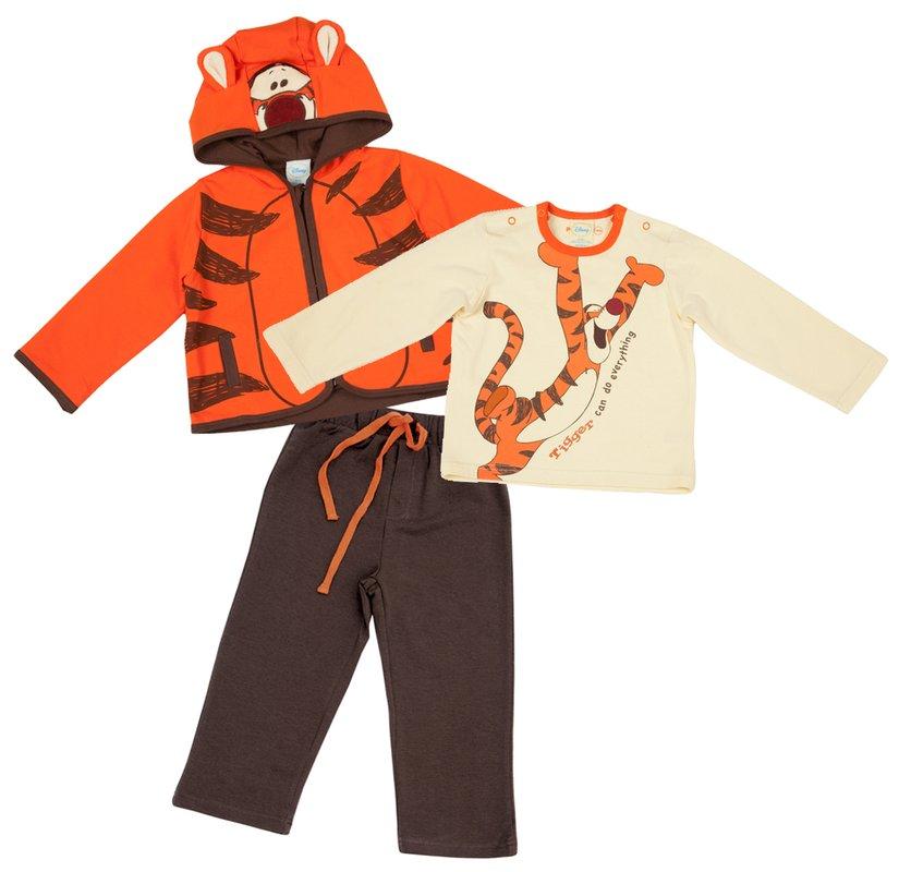 Комплект: толстовка, боди, брюки / толстовка, футболка с длинным рукавом, брюки 617018