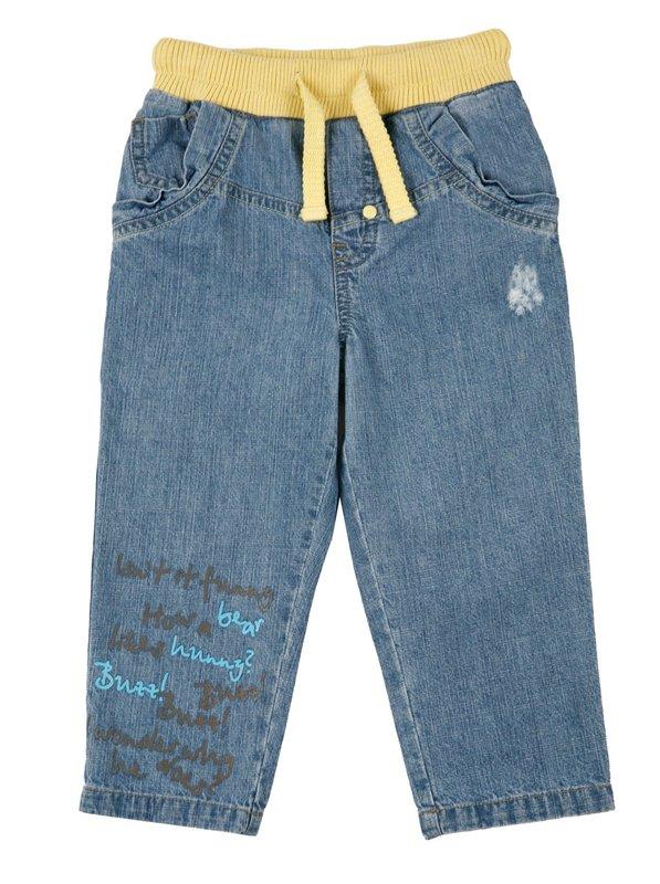 Брюки детские текстильные джинсовые для мальчиков 637013