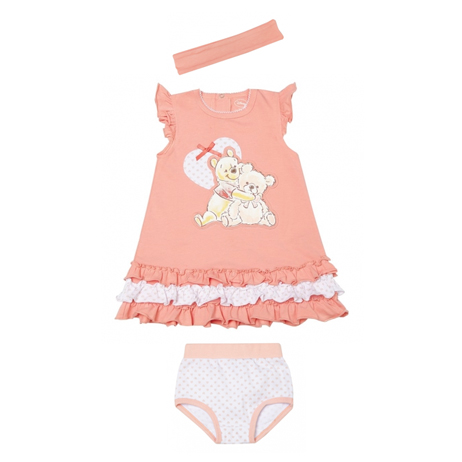 Комплект: платье, трусы, повязка 638002