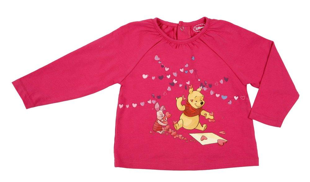 Фуфайка детская трикотажная для девочек (футболка с длинными рукавами) 638017