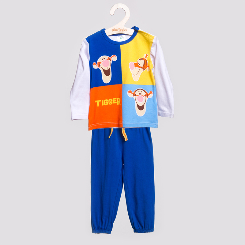 Комплект : футболка с длинным рукавом, брюки 657002