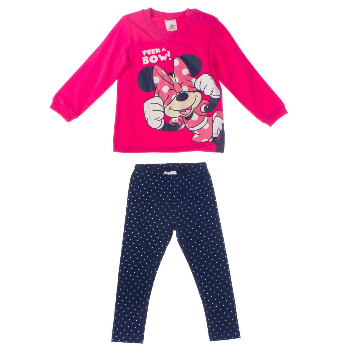 Комплект: футболка с длинными рукавами, леггинсы 668054