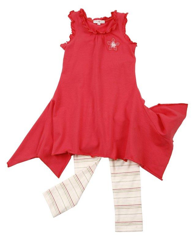 Комплект: платье, легинсы для дев. 702007