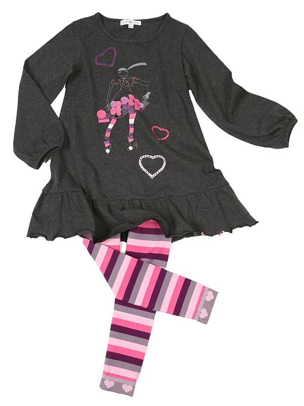 Комплект: платье, лосины для дев. 802012