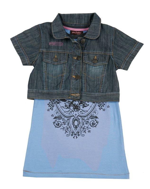 Комплект: куртка, платье для дев. 912008
