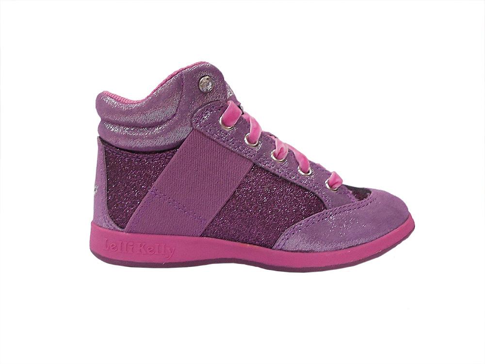 Туфли (кеды) для девочек цикламен с глиттером L12I6712 L12I6712GY01007