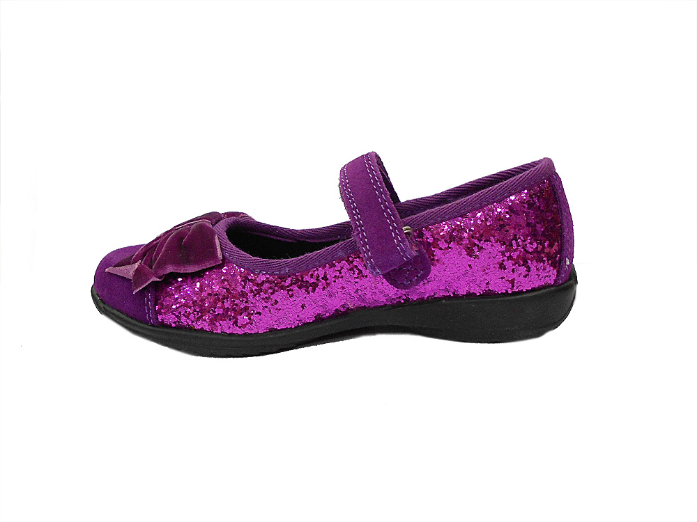 Туфли (балетки) для девочек пурпурные с глиттером L12I8280 L12I8280GW75032